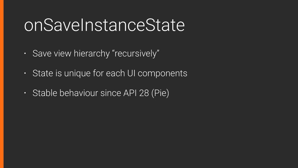 "onSaveInstanceState • Save view hierarchy ""recu..."