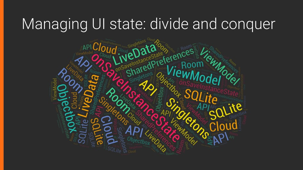 Managing UI state: divide and conquer