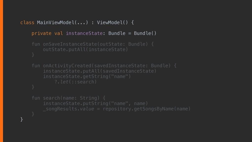 class MainViewModel(...) : ViewModel() { privat...