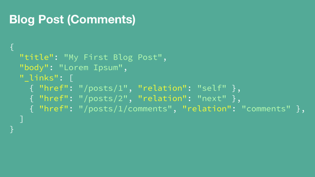 """Blog Post (Comments) { """"title"""": """"My First Blog ..."""
