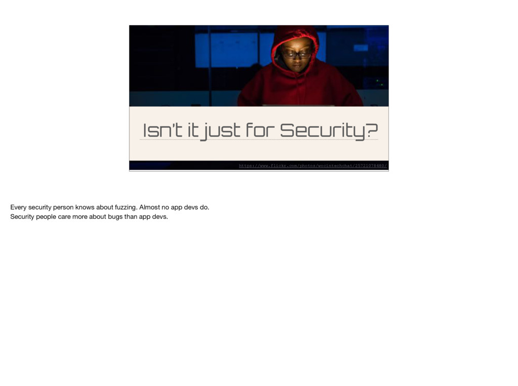 Isn't it just for Security? https://www.flickr....