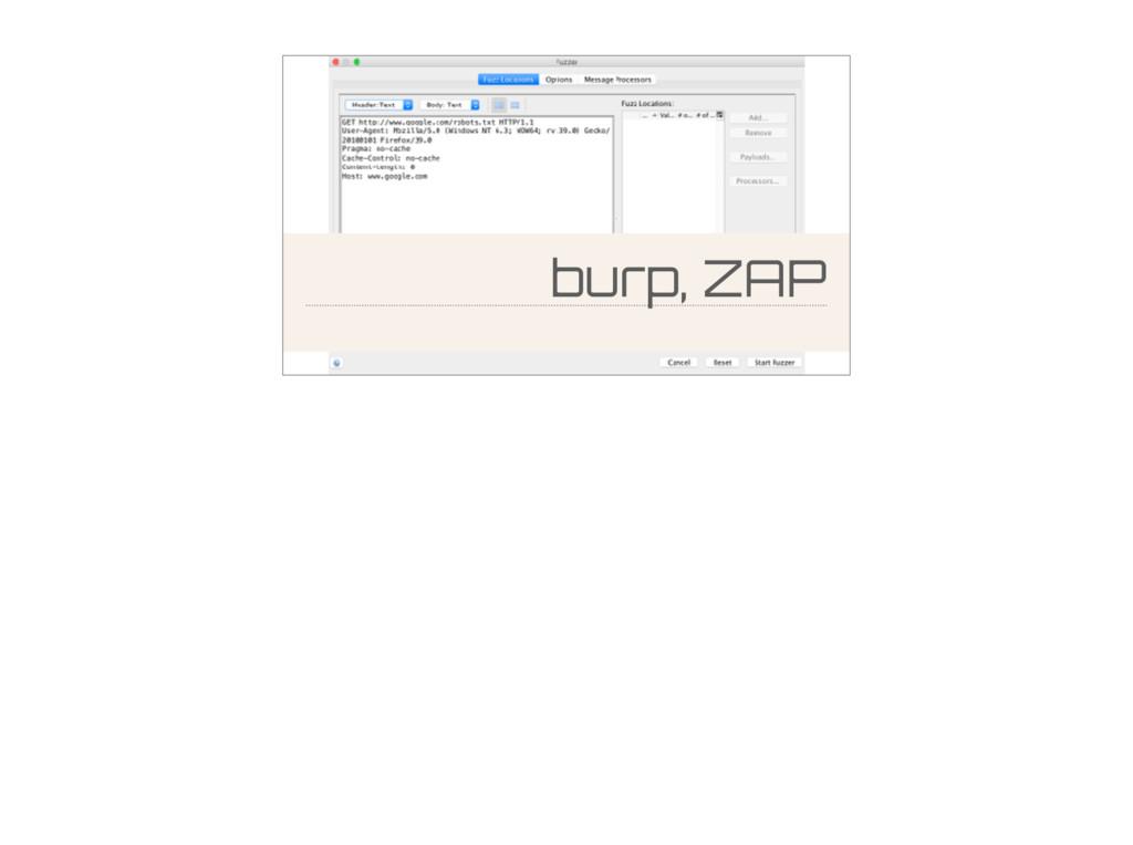 burp, ZAP
