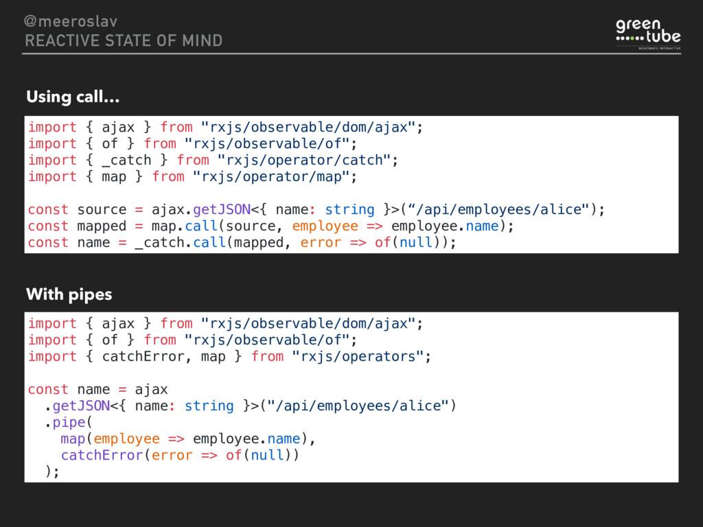 "import { ajax } from ""rxjs/observable/dom/ajax""..."