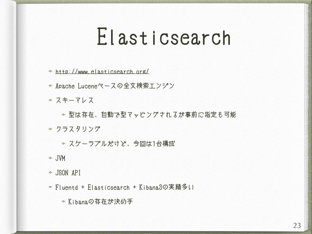 Elasticsearch http://www.elasticsearch.org/ Apa...