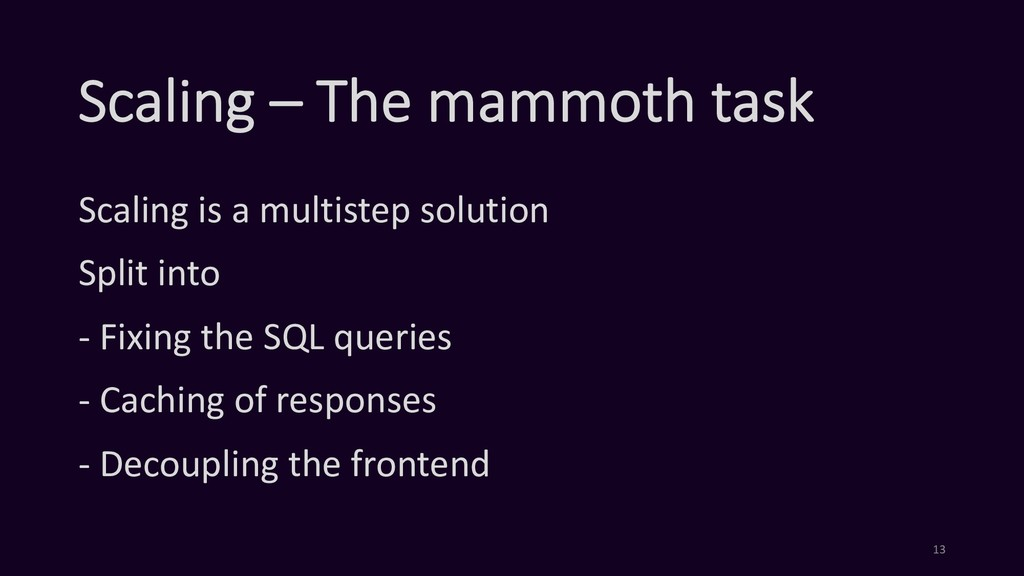 Scaling – The mammoth task Scaling is a multist...