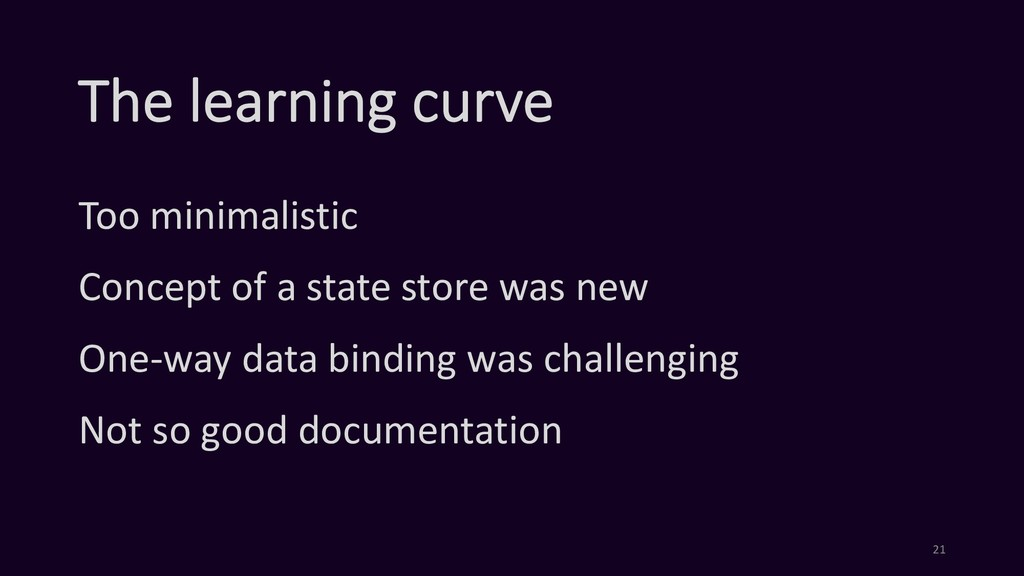 The learning curve Too minimalistic Concept of ...
