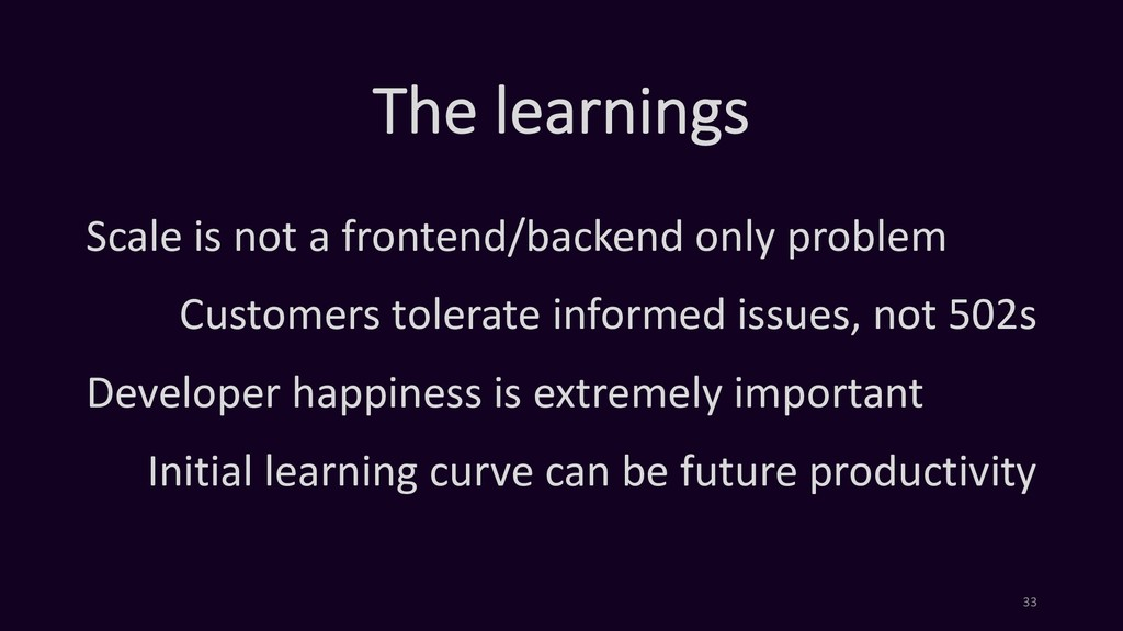 The learnings Scale is not a frontend/backend o...