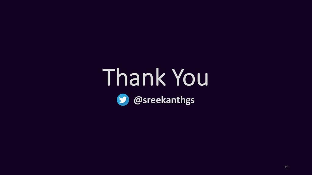 Thank You @sreekanthgs 35