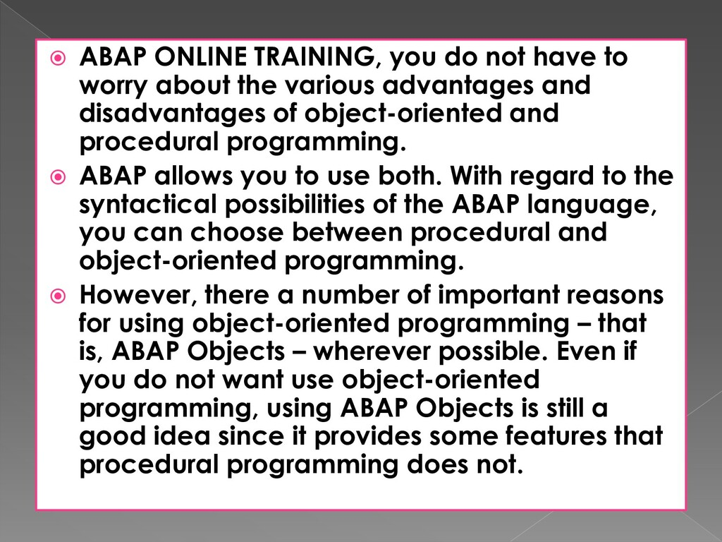  ABAP ONLINE TRAINING, you do not have to worr...