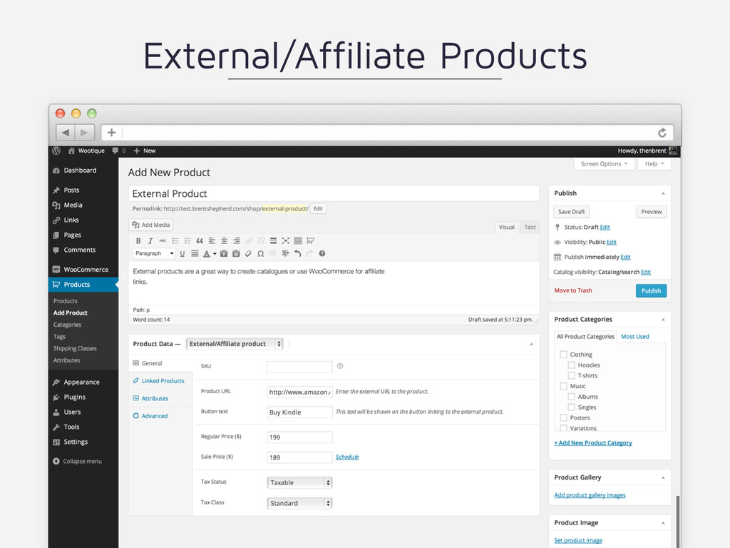 External/Affiliate Products