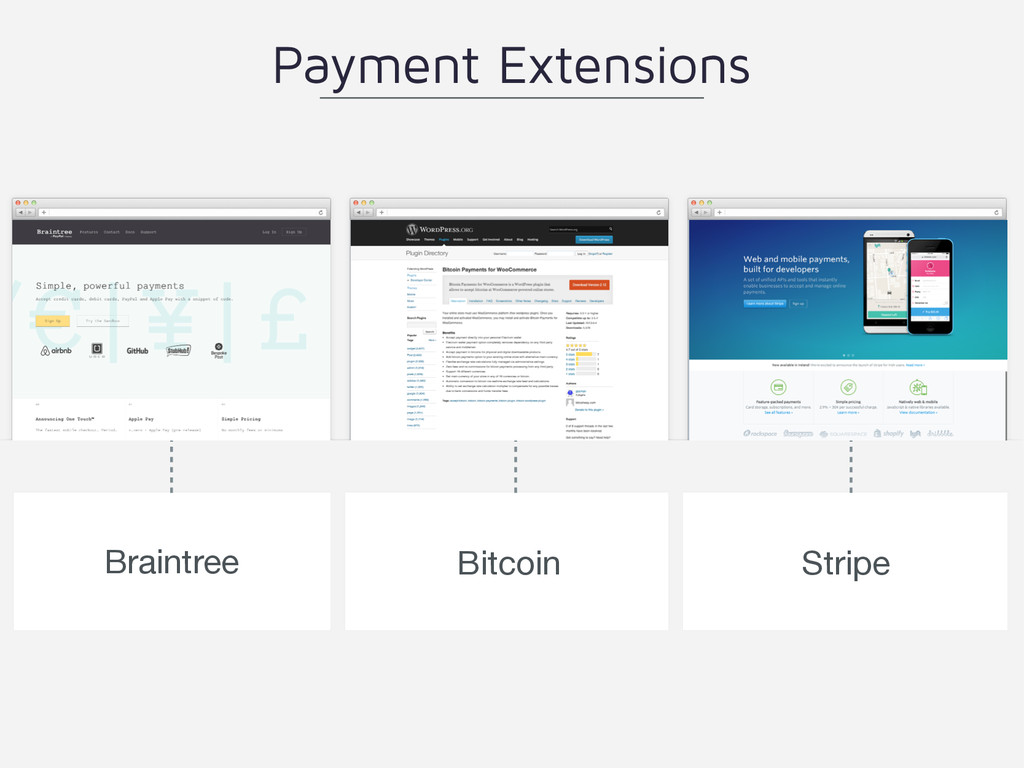 Braintree Bitcoin Payment Extensions Stripe