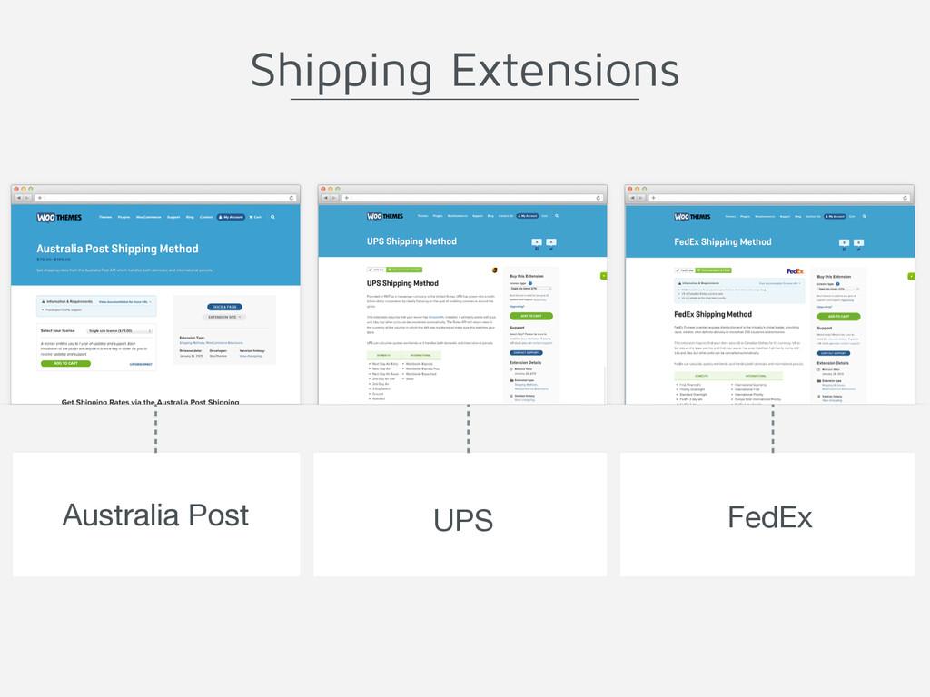 Australia Post UPS FedEx Shipping Extensions