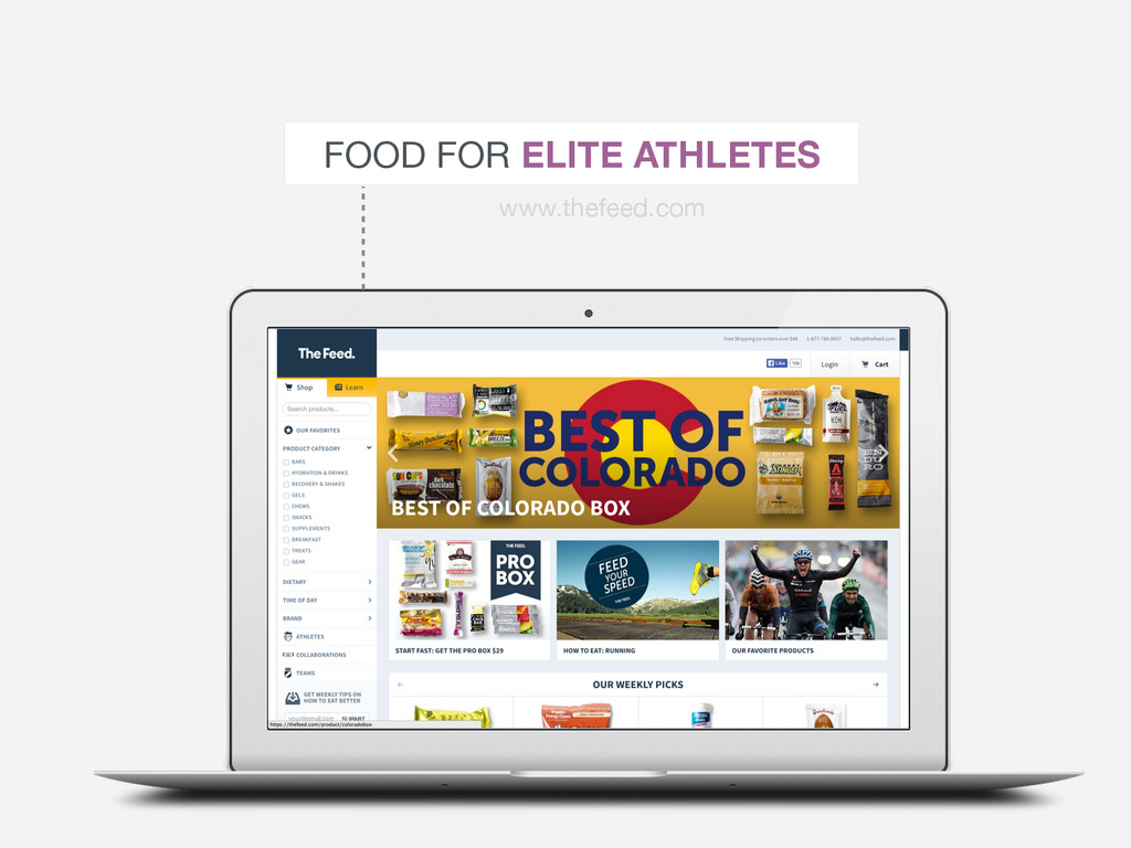 FOOD FOR ELITE ATHLETES www.thefeed.com