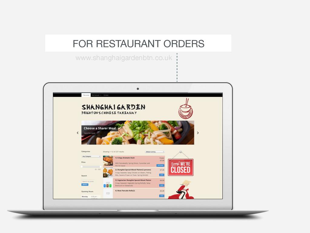 FOR RESTAURANT ORDERS www.shanghaigardenbtn.co....