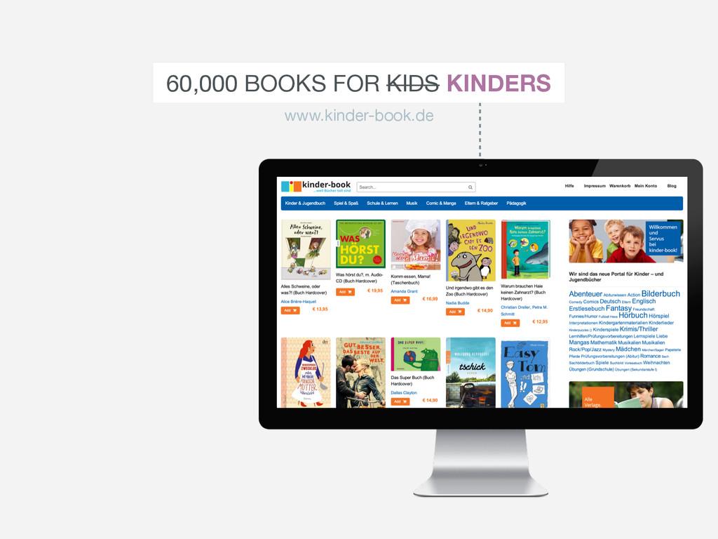 60,000 BOOKS FOR KIDS KINDERS www.kinder-book.de