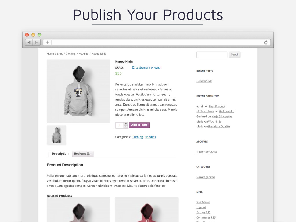 Publish Your Products