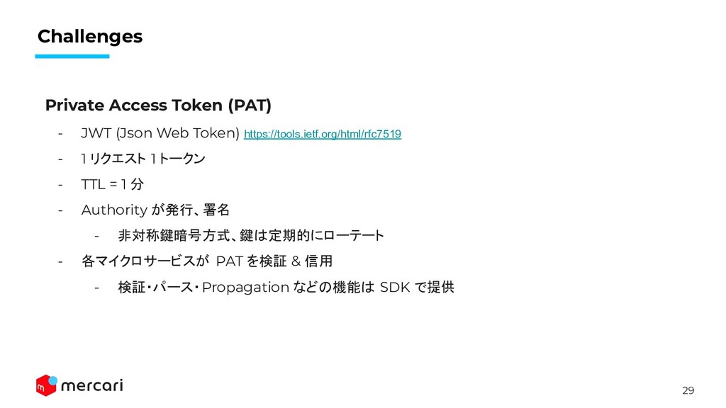 29 Challenges Private Access Token (PAT) - JWT ...