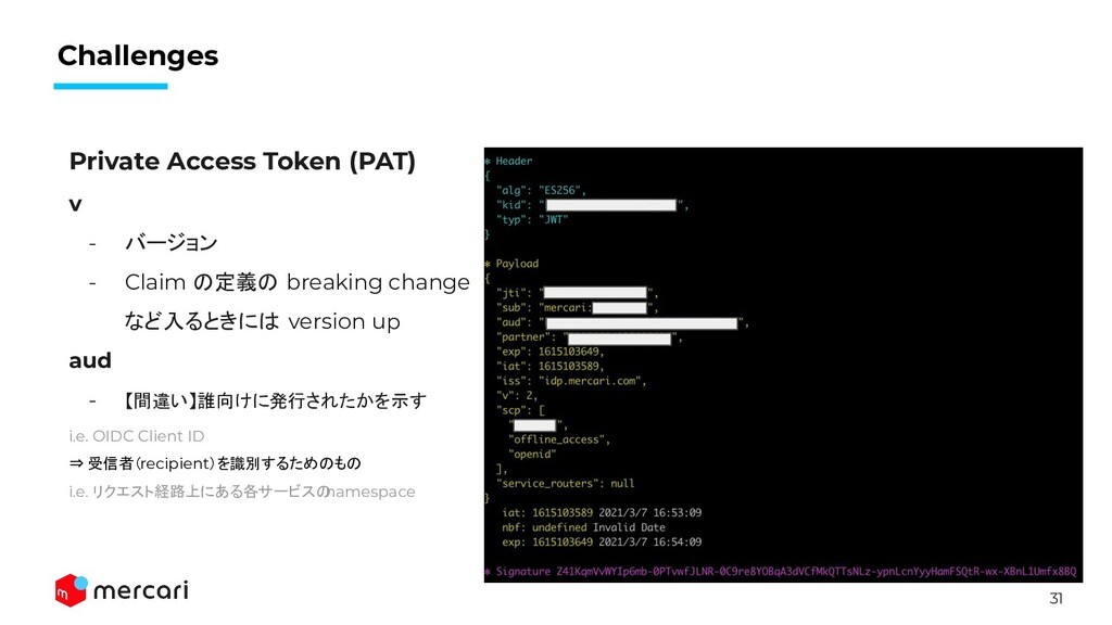 31 Challenges Private Access Token (PAT) v - バー...