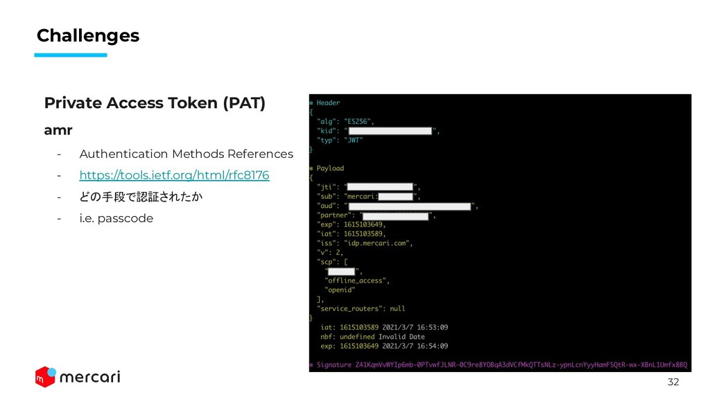 32 Challenges Private Access Token (PAT) amr - ...
