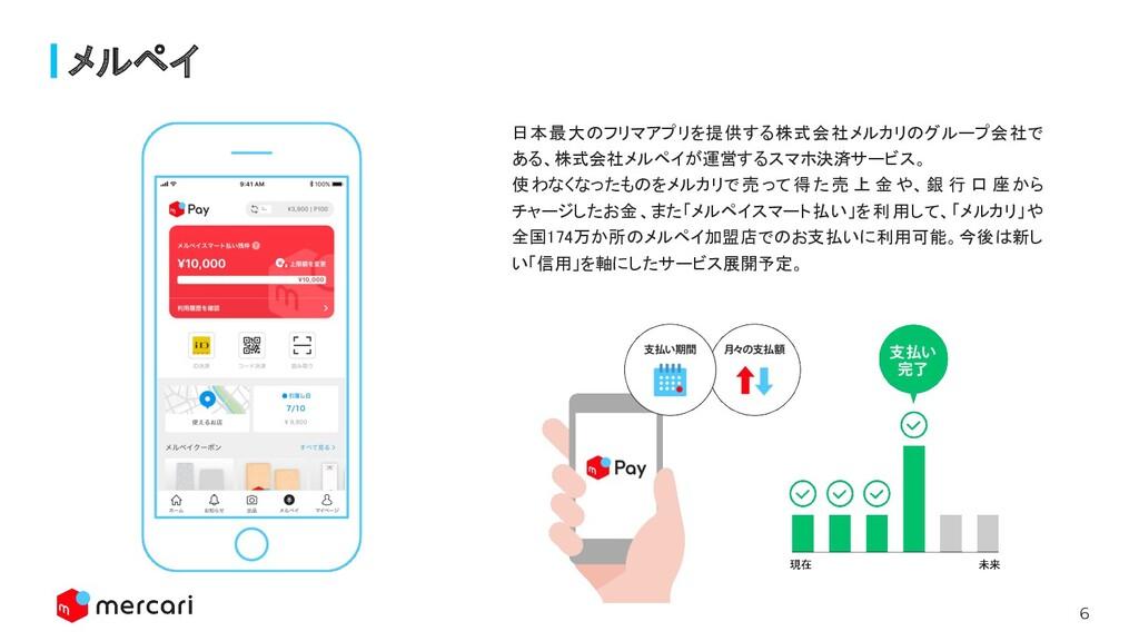 6 メルペイ 日本最大のフリマアプリを提供する株式会社メルカリのグループ会社で ある、株式会...