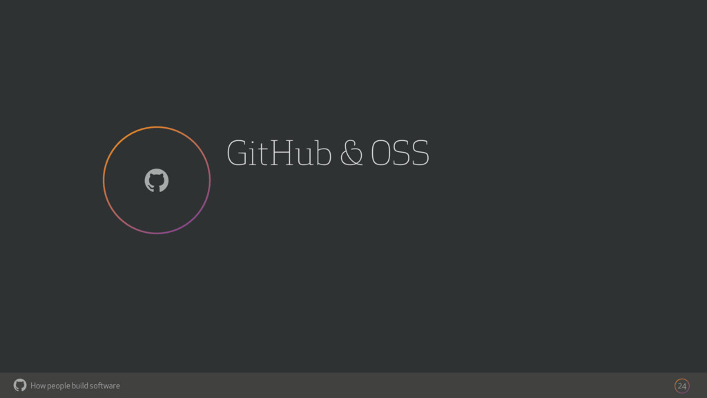 How people build software ! GitHub & OSS 24 !