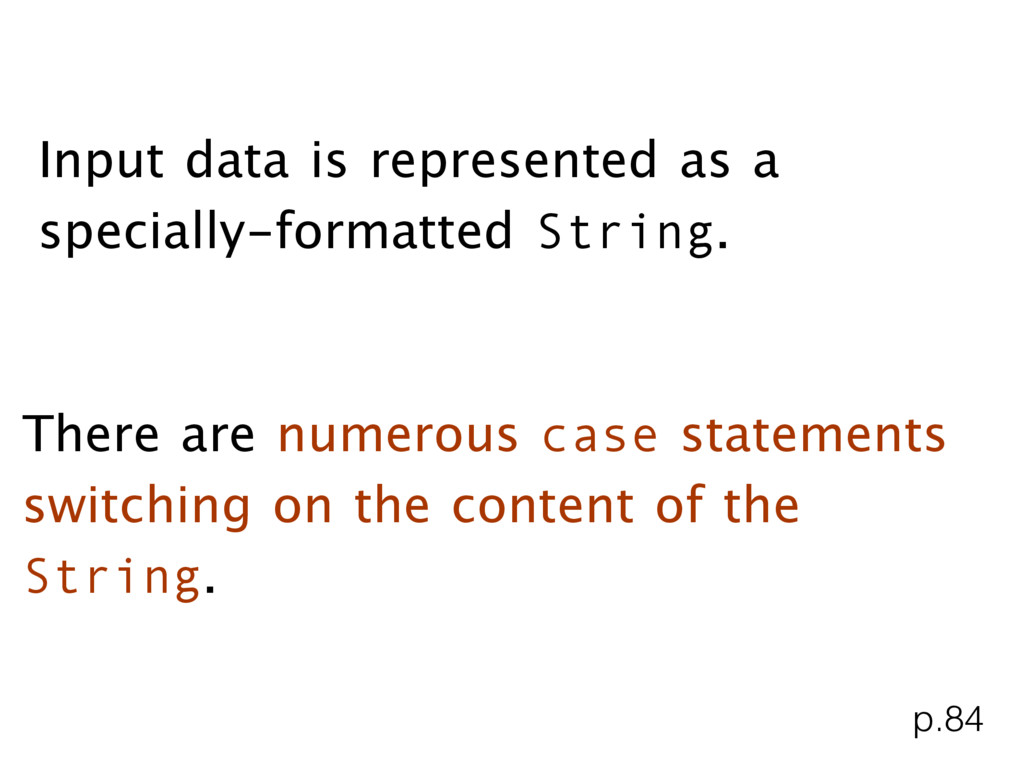 Input data is represented as a specially-format...