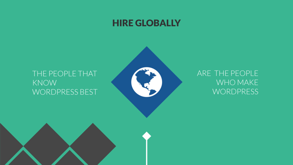 HIRE GLOBALLY ARE THE PEOPLE WHO MAKE WORDPRESS...
