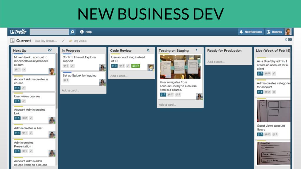 NEW BUSINESS DEV