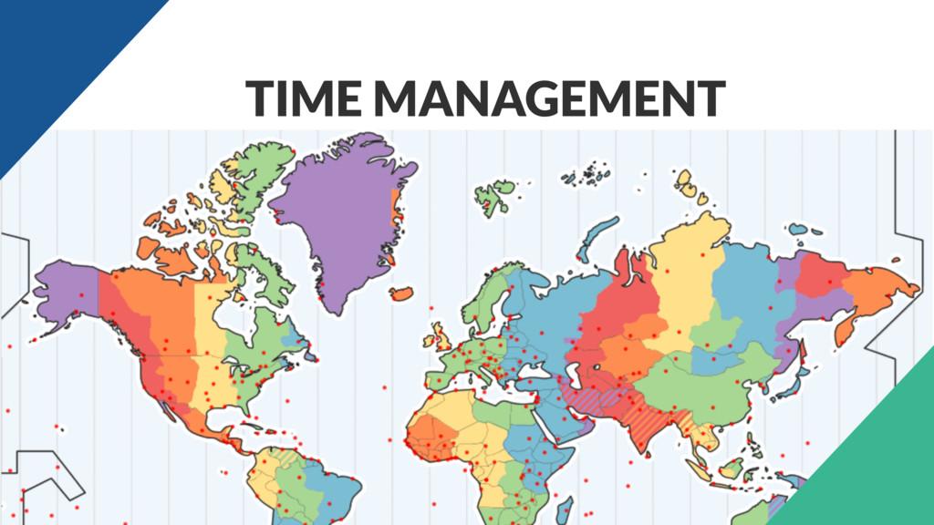 • \ TIME MANAGEMENT