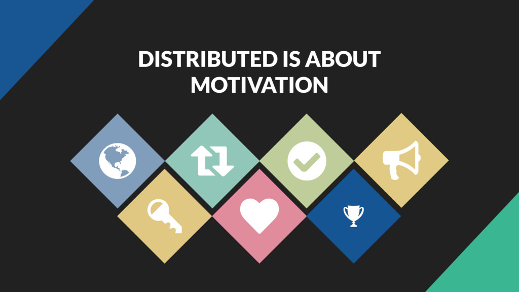 DISTRIBUTED IS ABOUT MOTIVATION