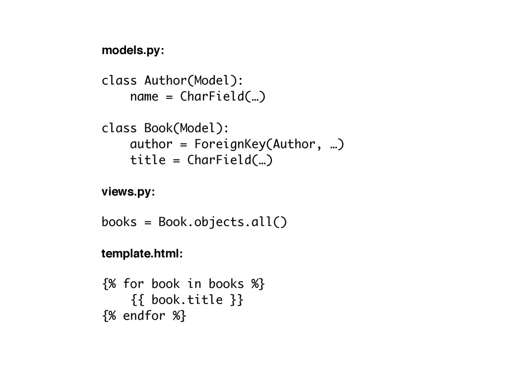 models.py:! ! class Author(Model): name = CharF...