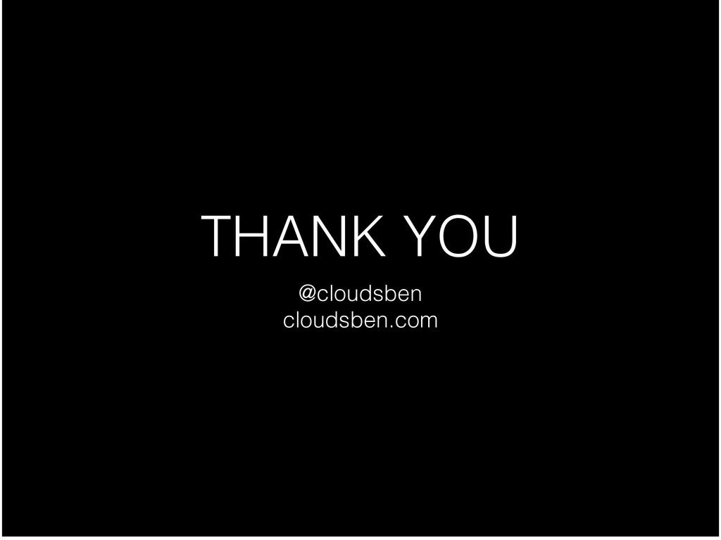 THANK YOU @cloudsben  cloudsben.com