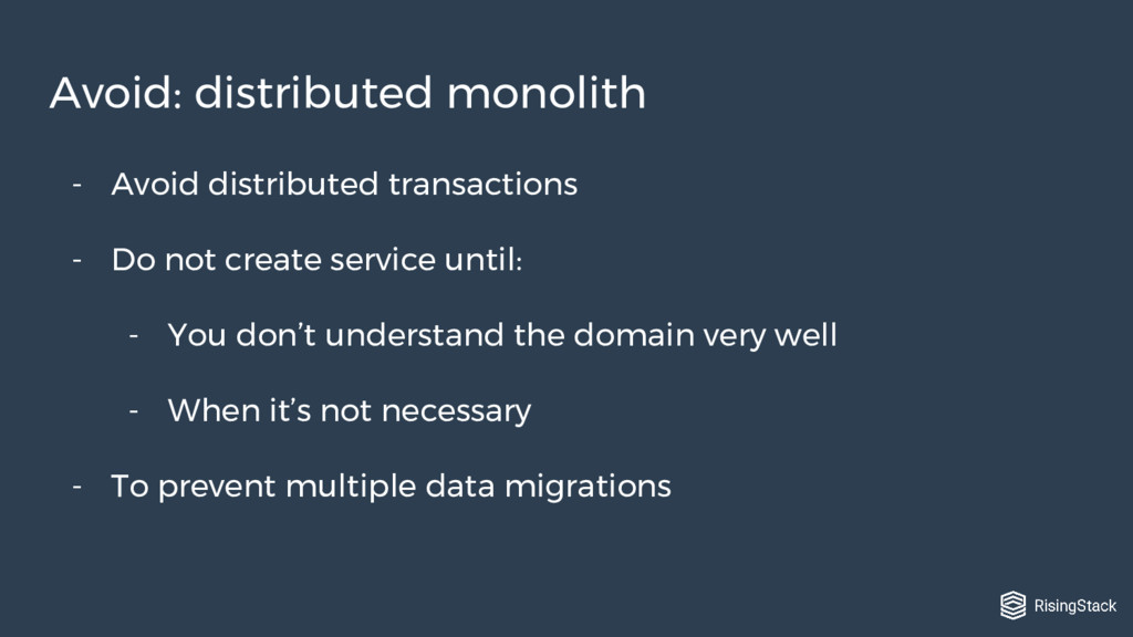 - Avoid distributed transactions - Do not creat...