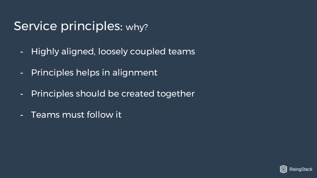 - Highly aligned, loosely coupled teams - Princ...
