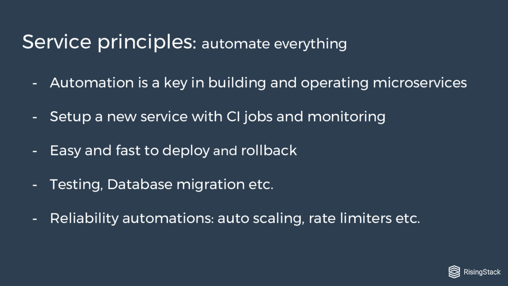 - Automation is a key in building and operating...