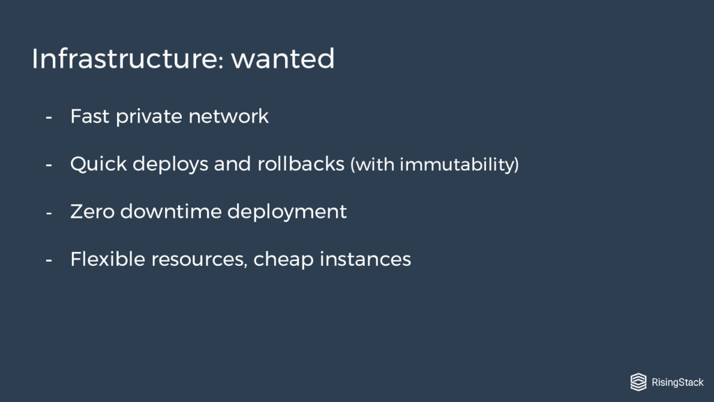 - Fast private network - Quick deploys and roll...