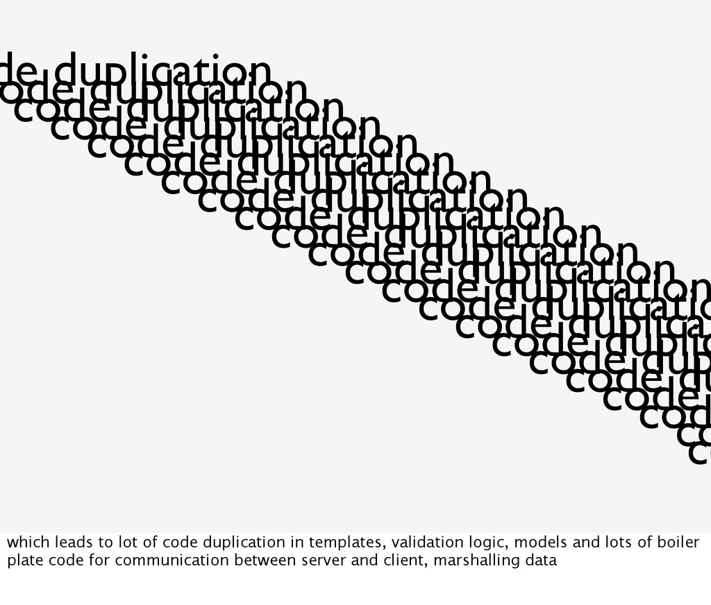 de duplication ode duplication code duplication...