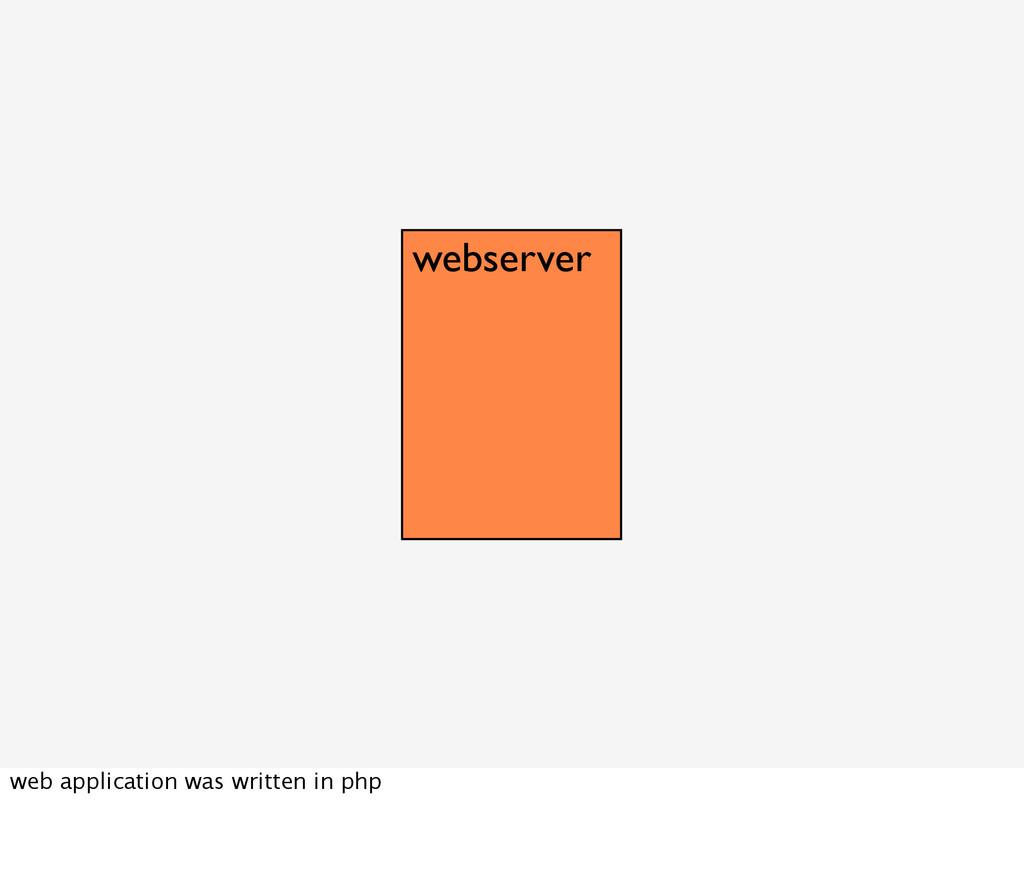 webserver web application was written in php