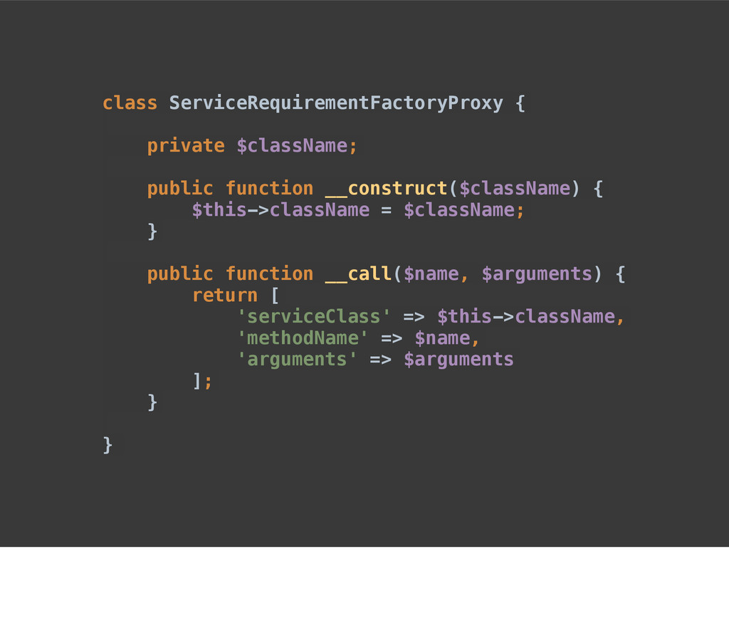class ServiceRequirementFactoryProxy { private ...