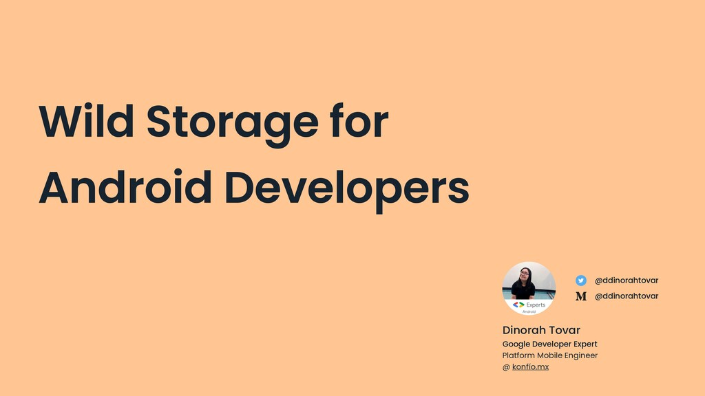 Wild Storage for Android Developers Dinorah Tov...