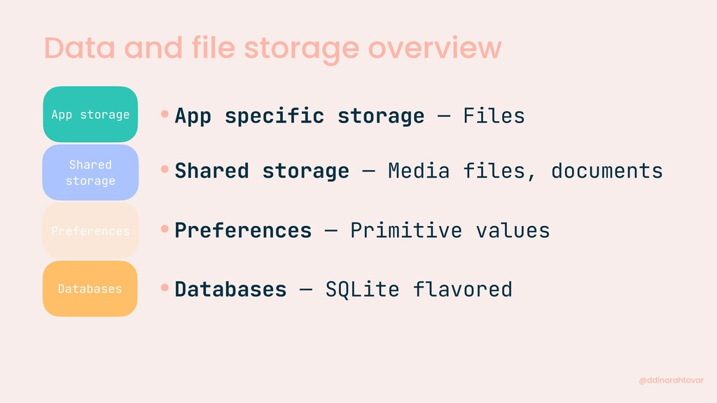 Data and file storage overview @ddinorahtovar A...
