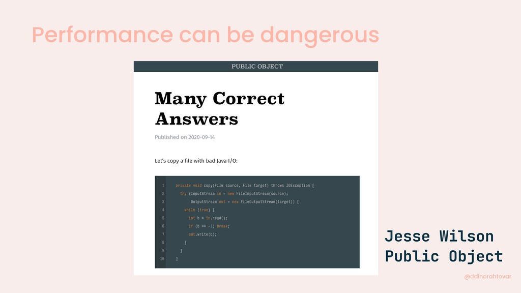 Performance can be dangerous @ddinorahtovar Jes...