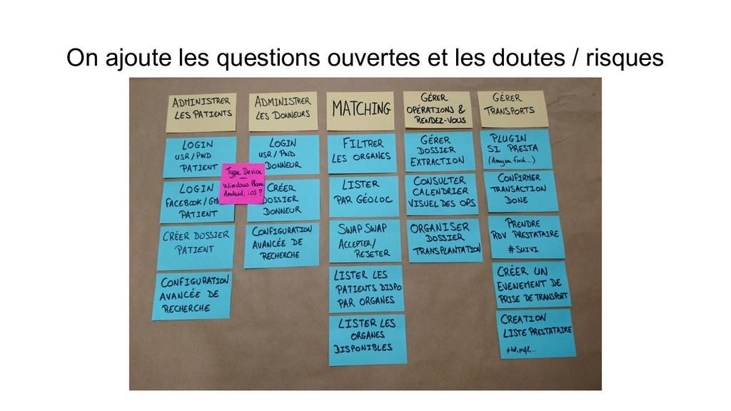 On ajoute les questions ouvertes et les doutes ...