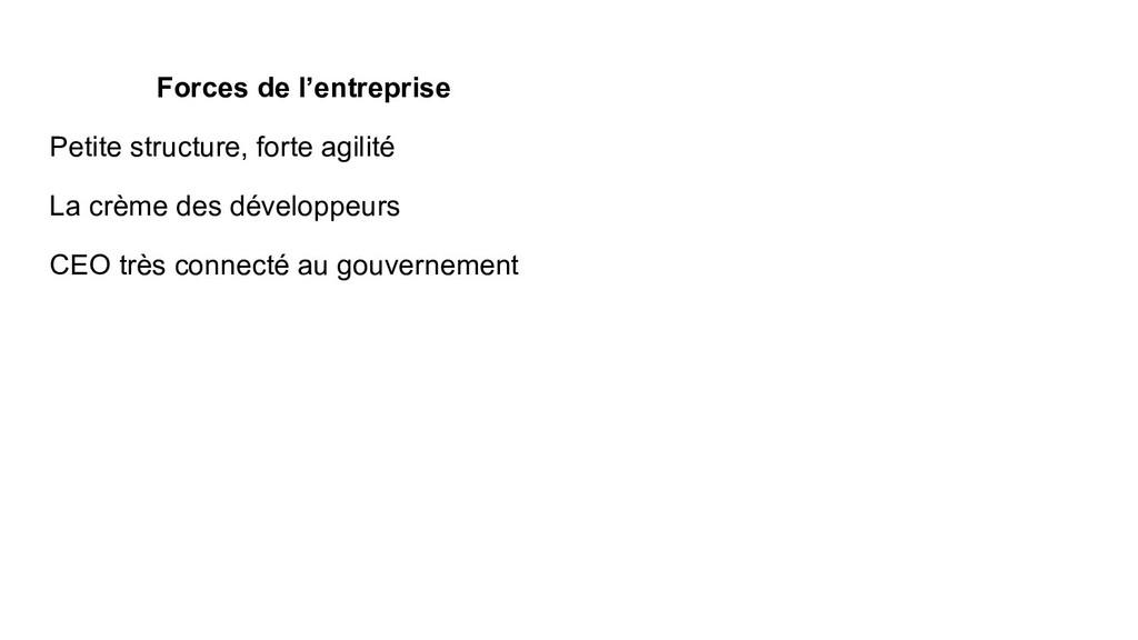 Forces de l'entreprise Petite structure, forte ...