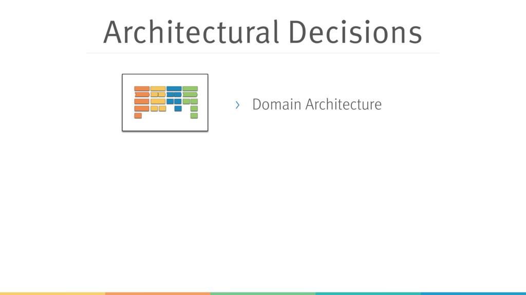 Architectural Decisions > Domain Architecture