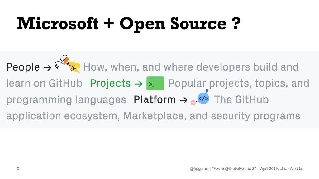 Microsoft + Open Source ? @hpgrahsl   #Azure @G...