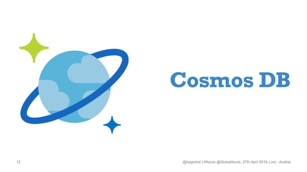 Cosmos DB @hpgrahsl   #Azure @GlobalAzure, 27th...