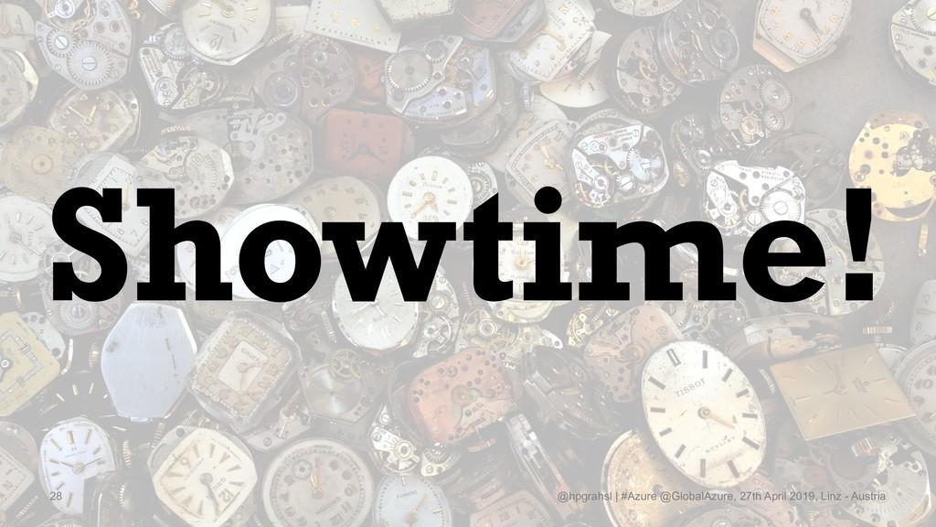 Showtime! @hpgrahsl   #Azure @GlobalAzure, 27th...