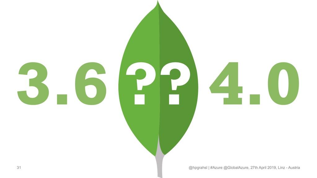 3.6 ?? 4.0 @hpgrahsl   #Azure @GlobalAzure, 27t...