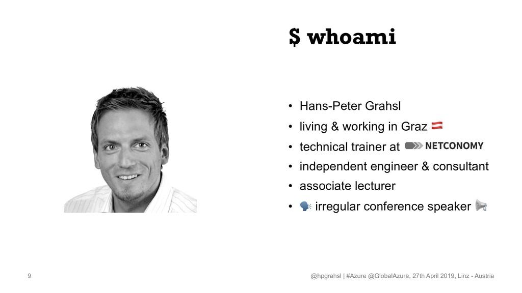 $ whoami • Hans-Peter Grahsl • living & working...